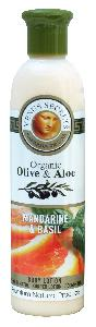 Olive Oil Products - Organic Olive Mandarine and Basil Body Lotion 250ml