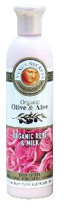 Olive Oil Products - Organic Olive Rose and Milk Body Lotion 250ml