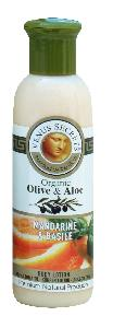 Olive Oil Products - Organic Olive Mandarine and Basil Body Lotion 100ml
