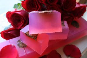 Natural Soaps - Rose Soap-whole bar-11 pcs (1kg)