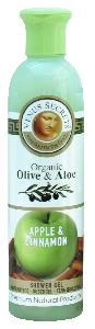 Olive Oil Products - Organic Olive Apple and Cinnamon Shower Gel 250ml