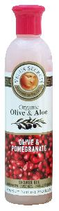 Olive Oil Products - Organic Olive and Pomegranate Shower Gel 250ml