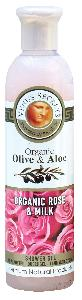 Olive Oil Products - Organic Olive Rose and Milk Shower Gel 250ml