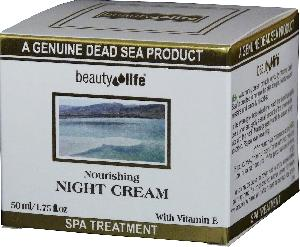 Beauty Life Dead Sea - Nourishing night cream for all skin types  Mineral