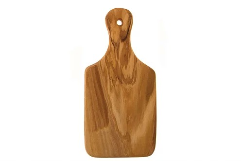 Olive Wood Utensils - Wood cutting board in racket shape thin 22 cm