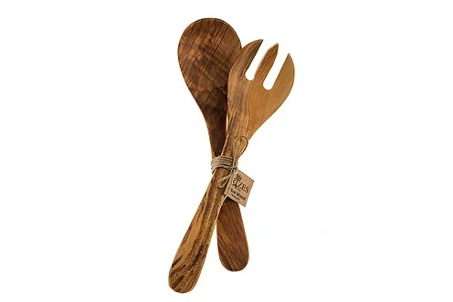 Olive Wood Utensils - Salad set Rizes / 30 cm