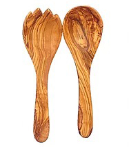 Olive Wood Utensils - Salad server / 27 cm